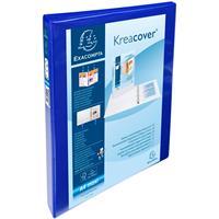 Exacompta ringmap Kreacover, ft A4 maxi, 4 D-ringen van 2 cm, blauw