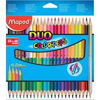 Maped driehoekig kleurpotlood Color'Peps Duo 24 potloden in een kartonnen etui = 48 kleuren