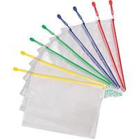 Tarifold opbergtas met rits, ft A4, pak van 8 stuks in geassorteerde kleuren