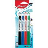 Maped whiteboardmarker Marker'Peps, blister van 4 stuks in geassorteerde kleuren