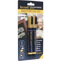 Securit krijtmarker medium, blister van 2 stuks, goud