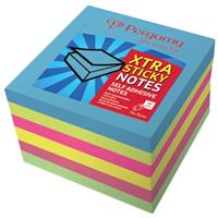 Pergamy Extra Sticky notes, ft 76 x 76 mm, neon , blok van 90 vel, pak van 6 stuks