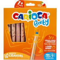 Carioca kleurpotlood Baby 3-in-1, doos van 10 stuks in geassorteerde kleuren