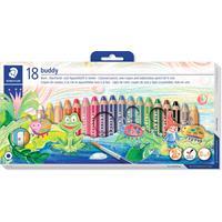 Staedtler kleurpotlood Buddy 3-in-1, doos van 18 stuks in geassorteerde kleuren