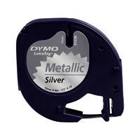 dymo LetraTag labeltape Zilver metallic