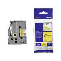 Brother TZe-S651 extra klevend tape zwart op geel 24mm x 8m (origineel)