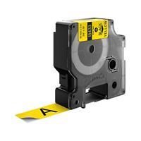 dymo S0718470 / 18433 IND Rhino tape vinyl zwart op geel 19mm (origineel)