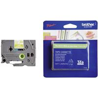 Brother TZe-MQG35 tape wit op lime groen 12mm x 5m (origineel)