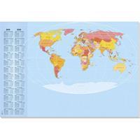 sigel Bureauonderleggers  59,4x41cm 30 vel wereldkaart