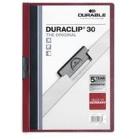 Durable Klemmap  2200 A4 3mm aubergine