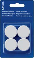 Maul magneet MAULsolid, diameter 32 mm, wit, blister van 4 stuks