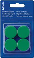 Maul magneet MAULsolid, diameter 38 mm, groen, blister van 4 stuks