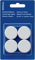 Maul magneet MAULsolid, diameter 38 mm, wit, blister van 4 stuks