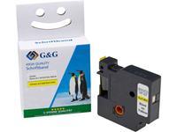 Labeltape G&G D1 Tapekleur: Geel Tekstkleur: Zwart 9 mm 7 m