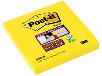 Post-it Super Sticky - Neon Mono Colour Pack 76 x 76 mm. 90 vel. narcisgeel (pak 12 x 90 vel)