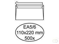 Hermes Envelop  bank EA5/6 110x220mm zelfklevend wit 500stuks