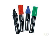 LegaMaster Presentatiemarker JUMBO TZ 48 Etui met 4 markers zwart, rood, blauw en groen