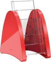 "Helit tafelstandaard ""parabool"" 1/3 A4 - 3 vaks rood"