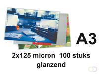 GBC Document lamineerhoes ft A3, 250 micron (2 x 125 micron), pak van 100 stuks
