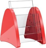 "tafelstandaard ""parabool"" A5 - 3 vaks rood"