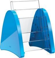 """tafelstandaard """"parabool"""" A5 - 3 vaks blauw"""