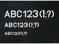 Aanvullende letterset - Hoogte 30 mm