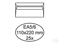 Quantore Envelop  bank EA5/6 110x220mm zelfklevend wit 25stuk