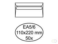 Quantore Envelop  bank EA5/6 110x220mm zelfklevend wit 50stuk