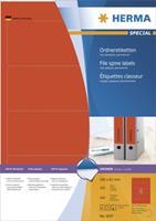Ordneretiketten Herma 4297 A4 192x61 mm rood papier mat ondoorzichtig 400 st.