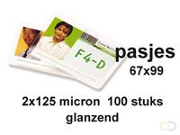 GBC Lamineerhoes  badge card 67x99mm 2x125micron 100stuks
