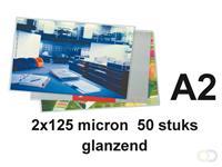 GBC Lamineerhoes  A2 2x125micron 50stuks
