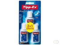 Tipp-ex Correctievloeistof  Rapid 20ml foam 2+1gratis blister