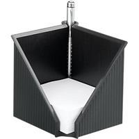 Helit notitie kubus met notitiepapier 10 x 10 cm, Linear zwart