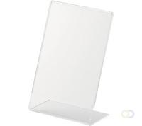 tafelstandaard L A4 staand helder transparant