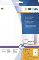 Inkjet etiketten Herma 4830 Ordner A4 38x297 mm wit papier mat 125 st.