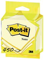 Post-it Notes kubus ft 76 x 76 mm, kanariegeel, blok van 450 vel, op blister