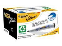 BiC 1751 Velleda Eco whiteboardmarker. beitelvormige punt 3 - 5.5 mm zwart (doos 12 stuks)