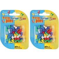 50x Gekleurde prikbord punaises Multi