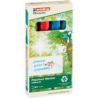 Edding 32 EcoLine flipchart markers, navulbaar, verschillende maten, EcoLine flipchart markers kleuren