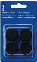 Maul magneet MAULsolid, diameter 38 mm, zwart, blister van 2 stuks