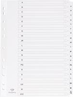 Pergamy tabbladen met indexblad, ft A4, 11-gaatsperforatie, A-Z met 20 tabs