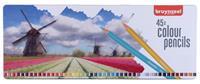 Kleurpotloden  Holland blik à 45 stuks assorti
