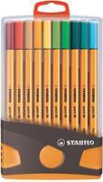 Stabilo Fineliners Point 88 box antraciet/oranje a 20 stuks
