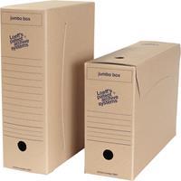 Loeff's archiefdoos Jumbo box, massief karton, bruin, pak van 8 stuks