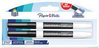 Paper Mate whiteboardmarker met fijne punt, blister van 2 stuks, zwart