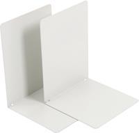 V-Part Boekensteun metaal, set van 2 stuks, wit