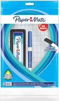 Paper Mate whiteboardmarker met fijne punt, set van 3 stuks, blauw