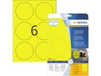 Herma 8035 Etiketten (A4) 85 x 85 mm Polyester folie Geel 150 stuk(s) Extra sterk hechtend Folie-etiketten