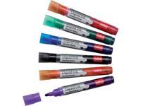 nobo Whiteboardmarkerset Liquid Ink Boardmarker Zwart, Rood, Groen, Blauw, Oranje, Violet 1901419 6 stuks/pack