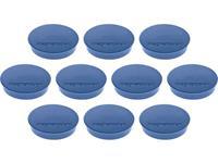 magnetoplan Magneet Discofix Standard (Ã x h) 30 mm x 8 mm rond Donkerblauw 10 stuk(s) 1664214